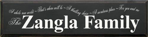 CUSTOM The Zangla Family 9x36 Wood Sign