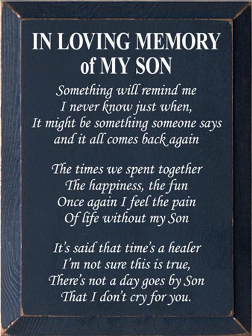 CUSTOM In Loving Memory Of My Son 9x12