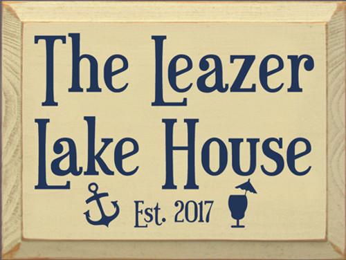 CUSTOM  The Leazer Lake House 9x12