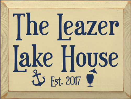 CUSTOM  The Leazer Lake House 9x12