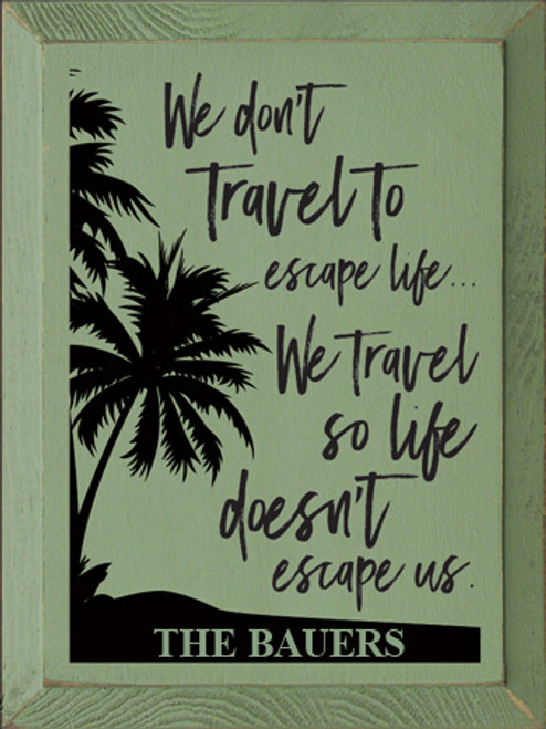 CUSTOM We Don't Travel To Escape Life... 9x12