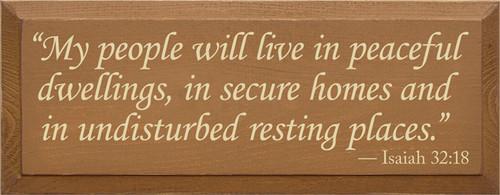 CUSTOM My people will live in peaceful dwellings... 7x18