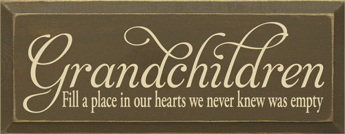 CUSTOM Grandchildren Fill A Place In Our Hearts... 7x18