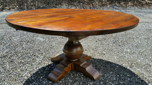 """Round Pedestal Table with GLOBE base 2"""" top Custom sizes available"""