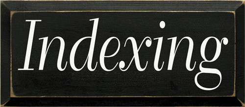 CUSTOM Indexing 7x18
