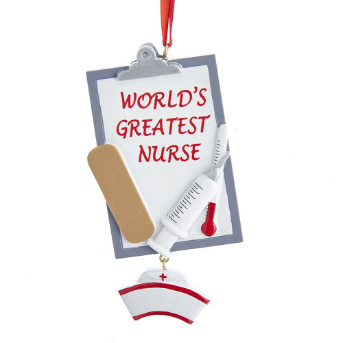 World's Greatest Nurse Personalized Ornament