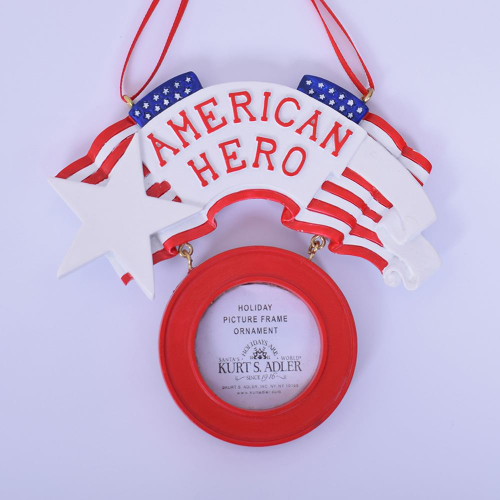 American Hero Personalized Photo Frame 3.75 Inch Red White & Blue