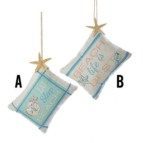 Linen Beach Pillow Ornament