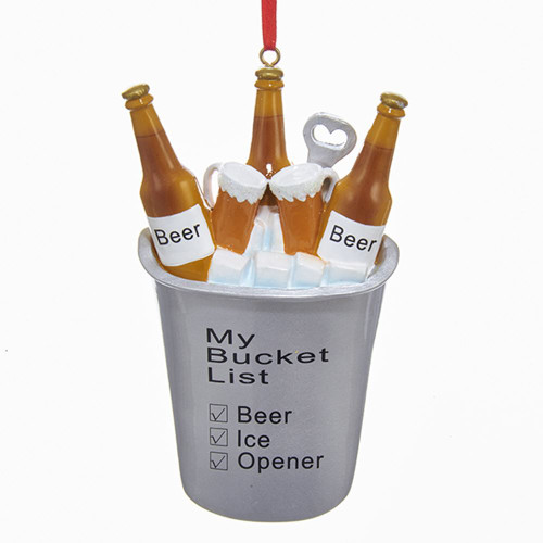 Beer My Bucket List Personalized Ornament