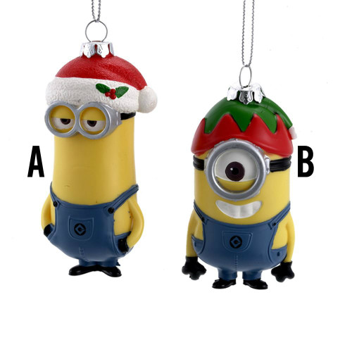 Despicable Me™ Dave and Carl Ornaments  Adorable set of Two Minions 3-4 inches