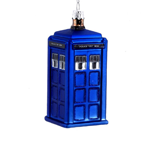 Doctor Who Tardis Telephone Booth  Ornament