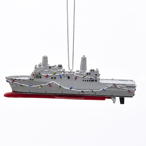 Navy Ship Ornament