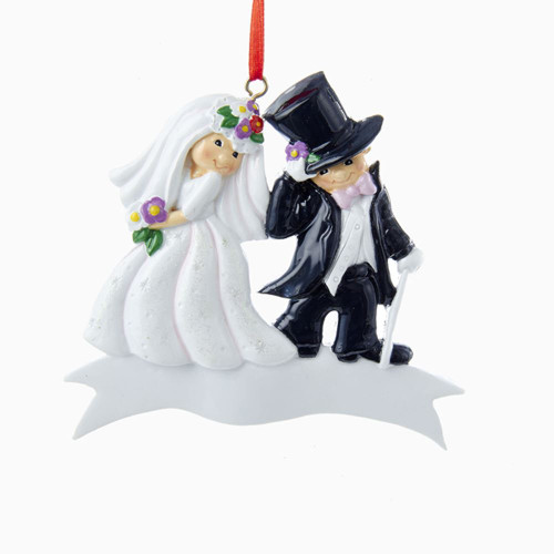 Bride & Groom Personalized Ornament
