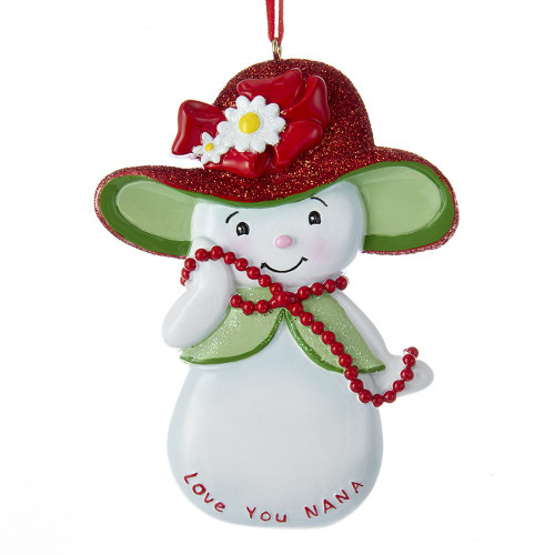 Snowwoman Love You Nana Personalized Ornament