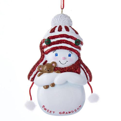 Personalized Ornament Snowman Sweet Grandson