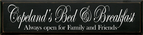 CUSTOM Copeland's Bed & Breakfast 9x36
