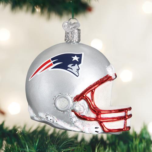 New England Patriots Helmet Ornament