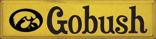 9x36 Yellow Board with Black  text  Custom Wood Painted Sign  Gobush