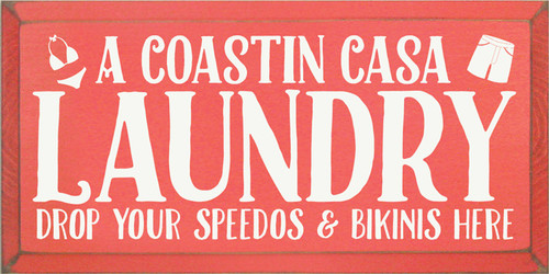 CUSTOM A Coastin Casa Laundry 9x18