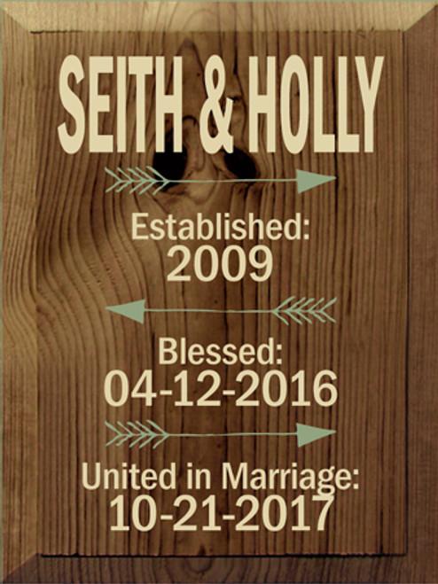 CUSTOM Seith & Holly 9x12