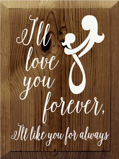 CUSTOM I'll Love You Forever 9x12