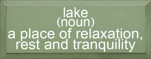 CUSTOM Lake (Noun) 7x18 Wood Sign