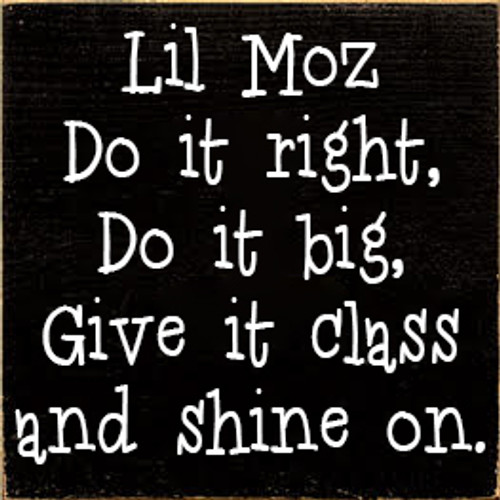 CUSTOM Lil Moz 7x7 Wood Sign
