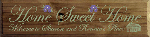 CUSTOM Home Sweet Home 9x36 Wooden Sign