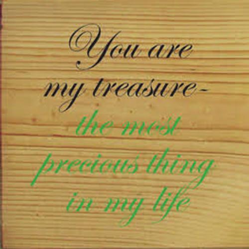 CUSTOM You Are My Treasure 7x7 Wood Sign