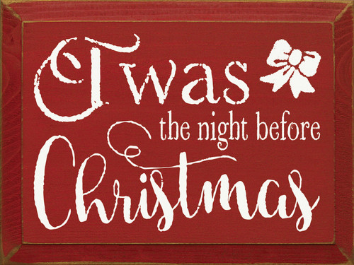 Twas the night before Christmas Wooden Sign