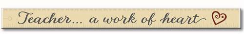 Teacher, A Work   Wooden Sign