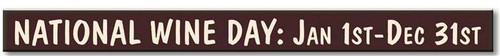 National Wine Day:  Wooden Sign