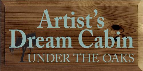CUSTOM Artist's Dream Cabin Under The Oaks 9x18 (MH1SDC3)