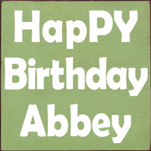 CUSTOM HapPY Birthday Abbey 7x7
