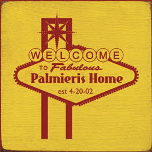 Custom Wood Painted Sign CUSTOM Palmieri's Home 7x7 Wood Sign
