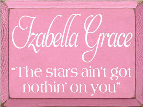Custom Wood Painted Sign CUSTOM Izabella Grace 12x9