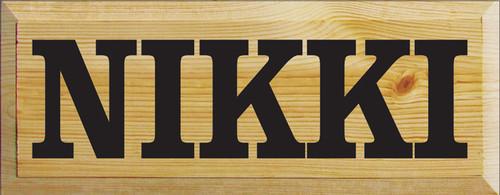 Custom Wood Painted Sign CUSTOM Nikki and Dominic 18x7 Wood Sign