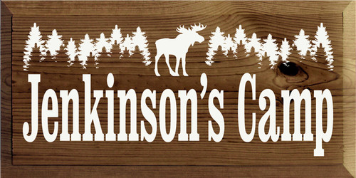 Custom Wood Painted Sign CUSTOM Jenkinson's Camp 18x9 Wood Sign