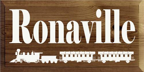 Custom Wood Painted Sign CUSTOM Ronaville 18x9 Wood Sign