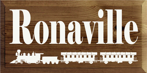Custom Wood Painted Sign CUSTOM Ronaville 18x9 Wood Sign
