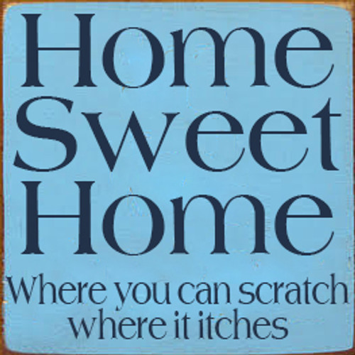 Custom Wood Painted Wood Sign CUSTOM Home Sweet Home 7x7 Wood Sign
