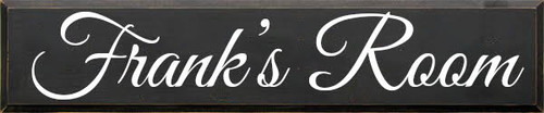 CUSTOM Wood Sign 48 x10 Wood Painted Sign Charcoal Board with White Text