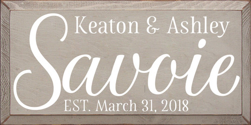 CUSTOM Keaton & Ashley 9x18