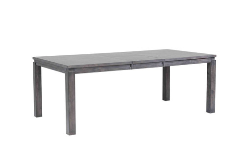 """Steel Gray Wood Newport Dining Table 42""""W x 64""""L Table with Self Storing 18"""" Butterfly leaf Table opens to 42""""W x 82""""L - comfortable seating for 6-8"""