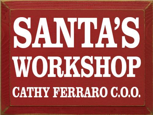 CUSTOM Santa's Workshop 9x12