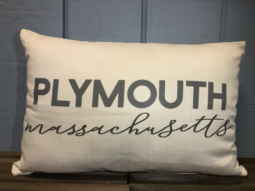 "Custom (Town) and (State) Pillow 20""W x 12""H"