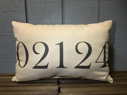 "Custom (Zip Code) Pillow 20""W x 12""H"