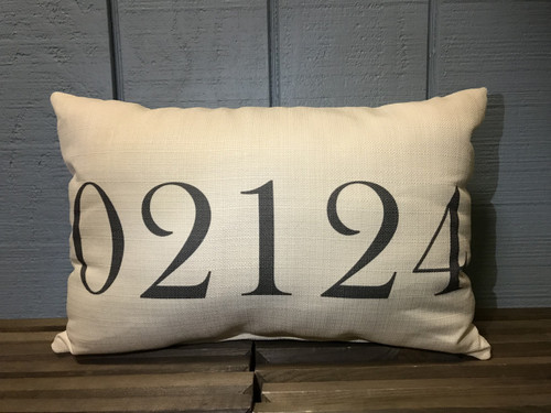 "Custom (Zip Code) Pillow 20""W x 12""H"