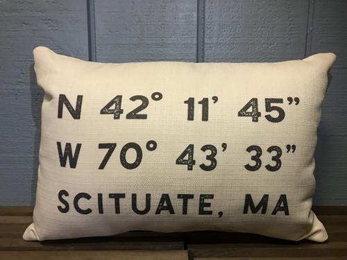 "Custom (Latitude & Longitude) Pillow 20""x12"""