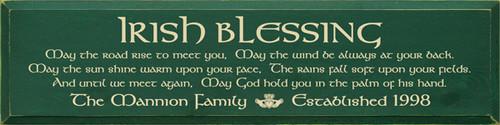 CUSTOM Irish Blessing 9x36